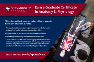 Graduate Certificate in Anatomy and Physiology Certificate Postcard Cover