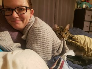 Amber Burbrink with cat