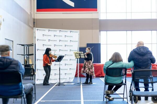 Musicians Performing at Clinic