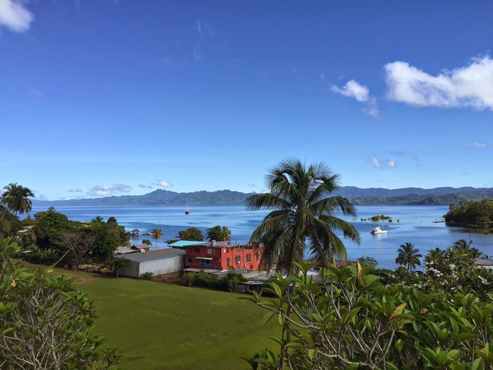 Looking out over the coast of Fiji