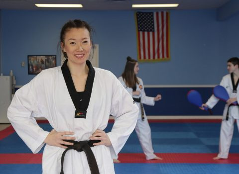 "<span class=""entry-title-primary"">Tae Kwon Do Champ Uses Skills to Grow, Break Challenges & Help Others</span> <span class=""entry-subtitle""> Ashley Hunziker '18 transformed from bullied child into a teacher with a passion for healing, thanks, in great part, to her love of Tae Kwon Do. </span>"