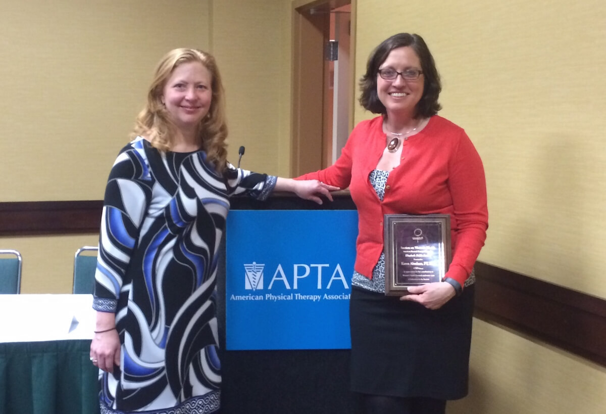 Abraham Wins Highest Honor From the APTA's Section on Women's Health