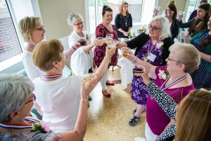 Shenandoah University nursing school class of 1967 makes toast at 50th reunion
