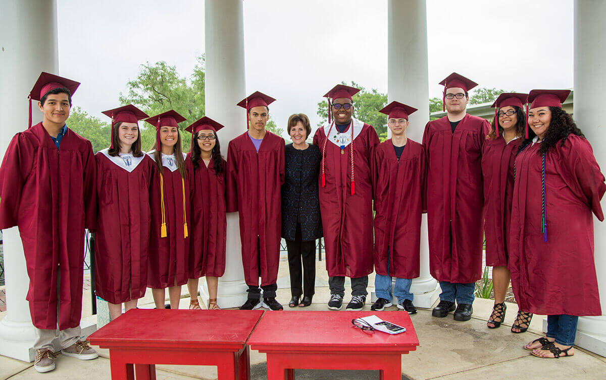 Professor Marks Unusual, Special Graduation New high school grads head out into the world after working with Shenandoah education professor since first grade