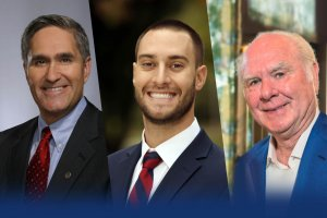 New members of Shenandoah University Board of Trustees: Randy Minchew, Kyle Feldman and Cecil Pruitt, Jr.