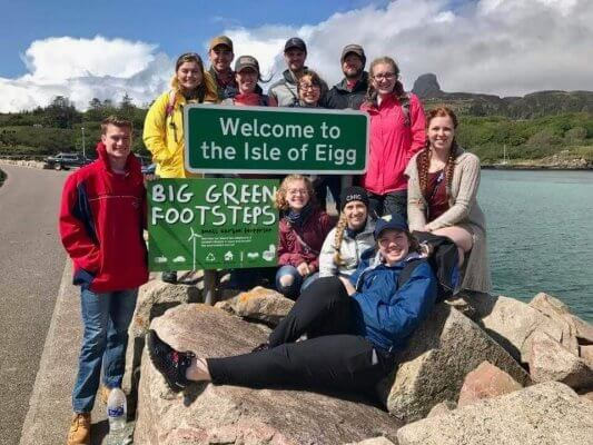Scottish island of Eigg with Courtney Hodges on Shenandoah Global Experiential Learning trip