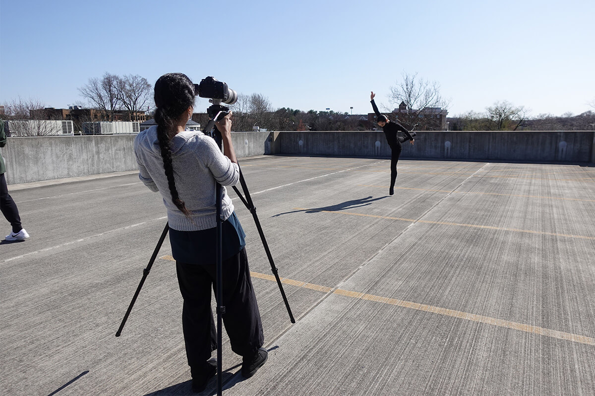 Dance Students Film Work with NYC-based Choreographer Sidra Bell